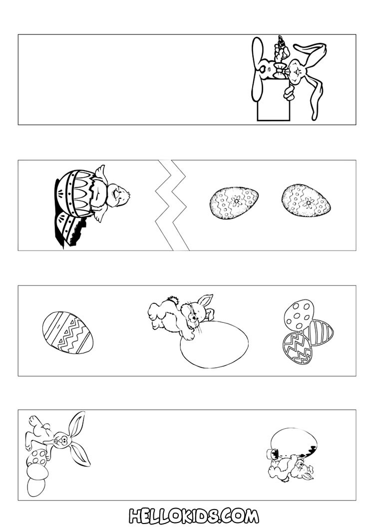 Bookmark Coloring Pages How To Craft Easter Bookmarks Coloring Page Hellokids