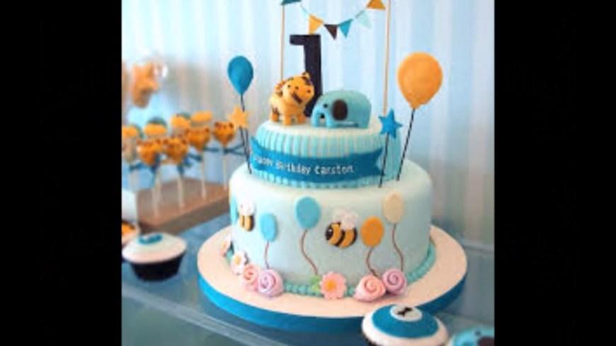 Boys Birthday Cake Ba Boy 1st Birthday Cake Photos Youtube