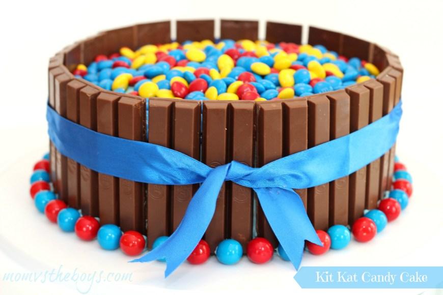 Boys Birthday Cake Birthday Kit Kat Cake For Boys Mom Vs The Boys