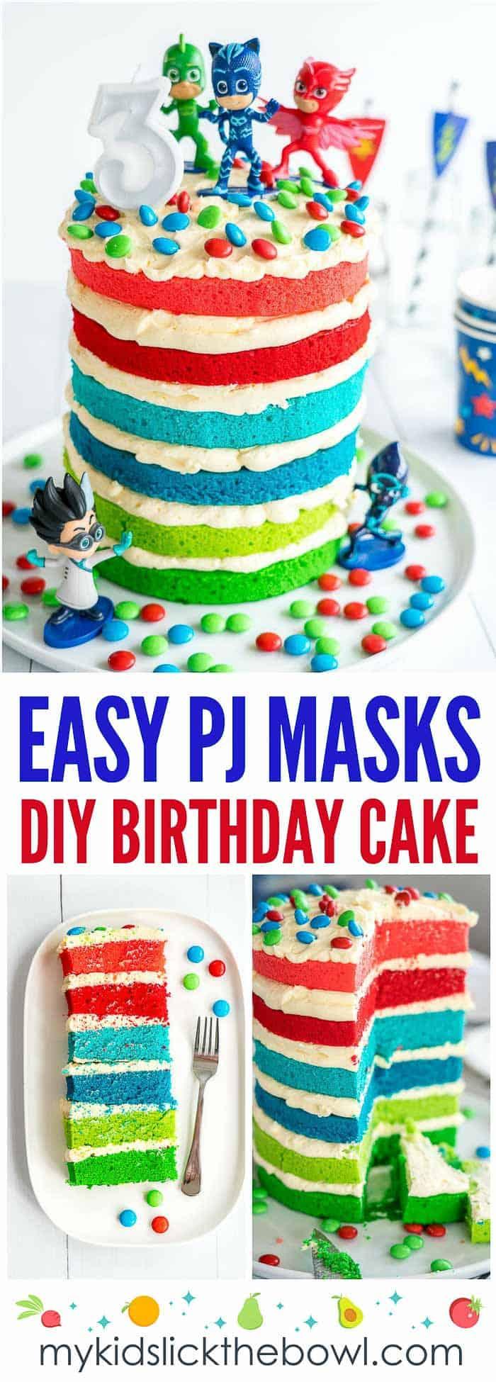 Boys Birthday Cake Pj Masks Cake Easy Diy Birthday Cake For Kids