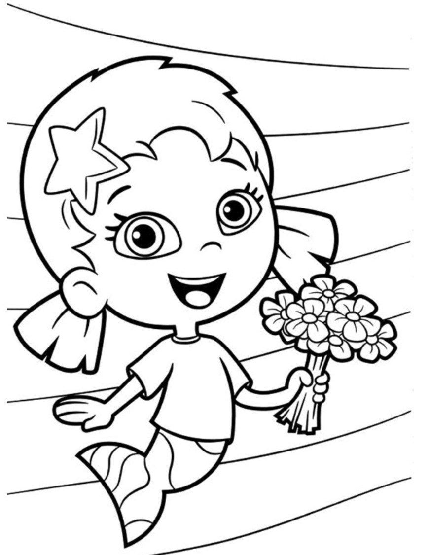 Bubble Guppies Coloring Pages Flower Oona Bubble Guppies Coloring Pages Cartoon Coloring Pages