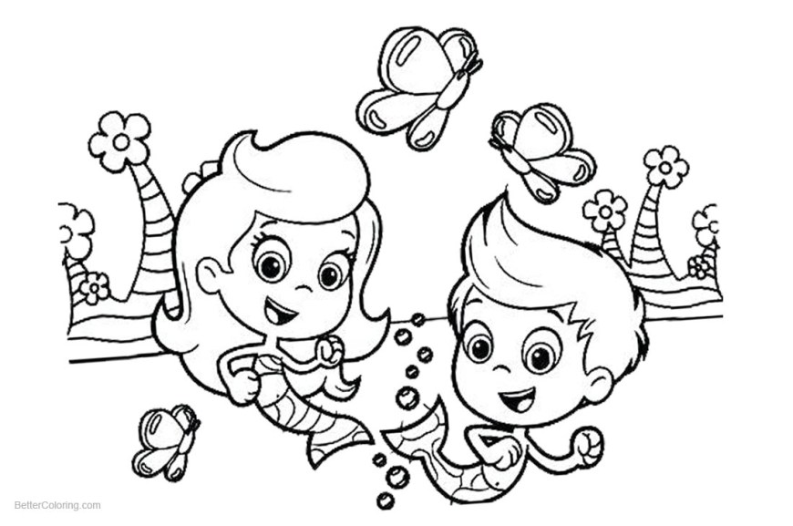 Bubble Guppies Coloring Pages Gil From Bubble Guppies Coloring Pages With Molly Line Art Free