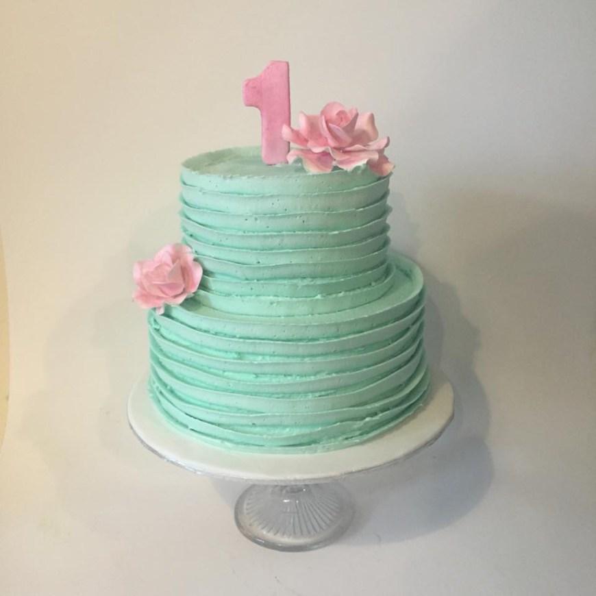 Buttercream Birthday Cakes Pretty Pastel Buttercream Cake Three Sweeties