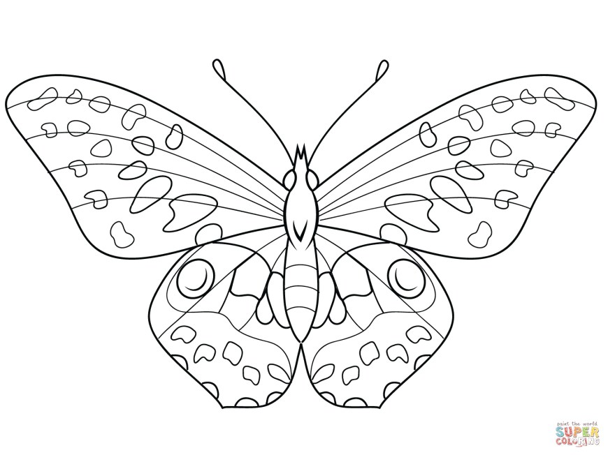 Butterflies Coloring Pages Butterfly Coloring Pages Free Coloring Pages