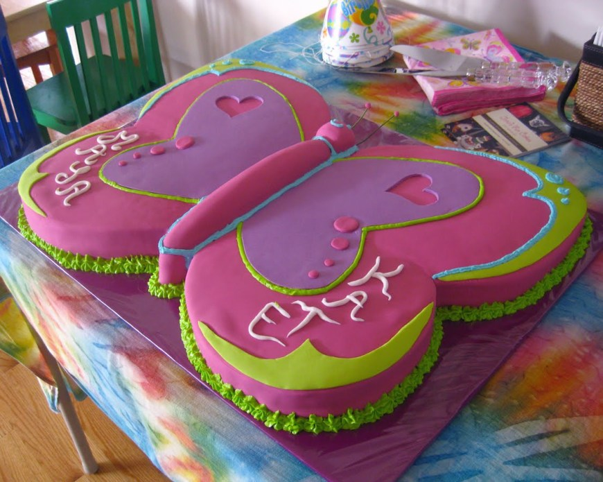 Butterfly Birthday Cake Cakes Decoration Ideas Little