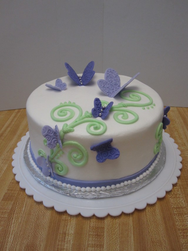 Butterfly Birthday Cake Purple Butterfly Birthday Cake Cakecentral