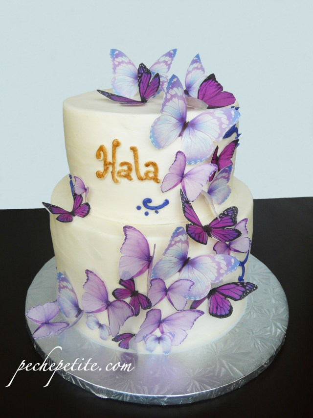 Butterfly Birthday Cakes Custom Butterfly Cakes Peche Petite