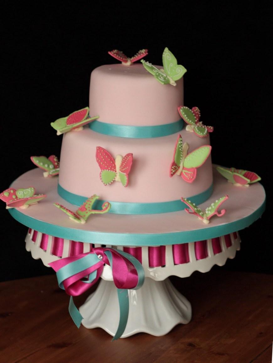 Butterfly Birthday Cakes Vanilla Butterfly Birthday Cake