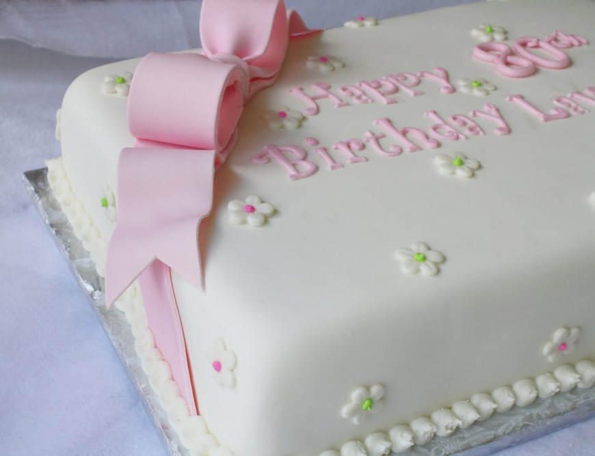 Cakes For Birthdays Pink Green Sheet Cakes For 1st And 80th Birthdays