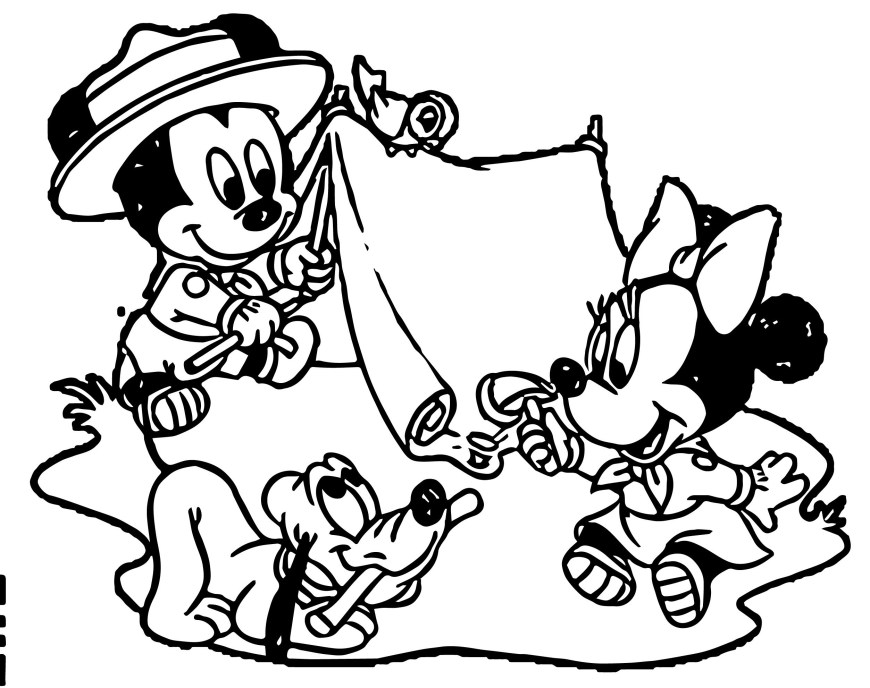 Camping Coloring Pages Camping Coloring Page At Camping Coloring Pages Coloring Pages For