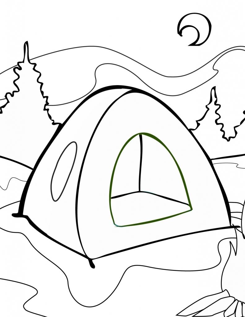 Camping Coloring Pages Camping Coloring Pages In Nature Coloringstar