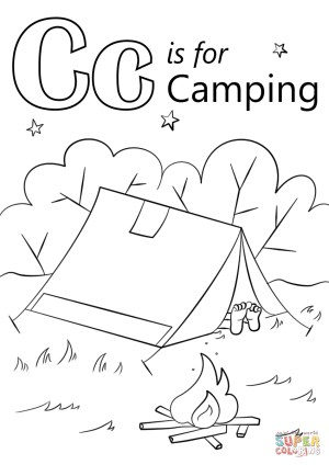Camping Coloring Pages Printable Camping Coloring Pages Wilderness Inside Vietti