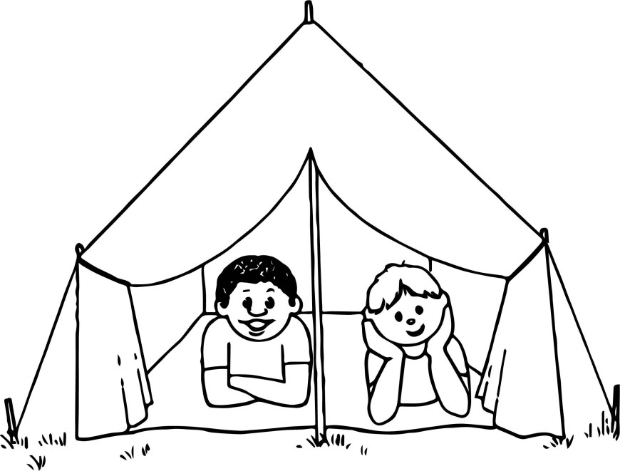 Camping Coloring Pages Tent Coloring Page Awesome Camping Coloring Pages Camping Coloring