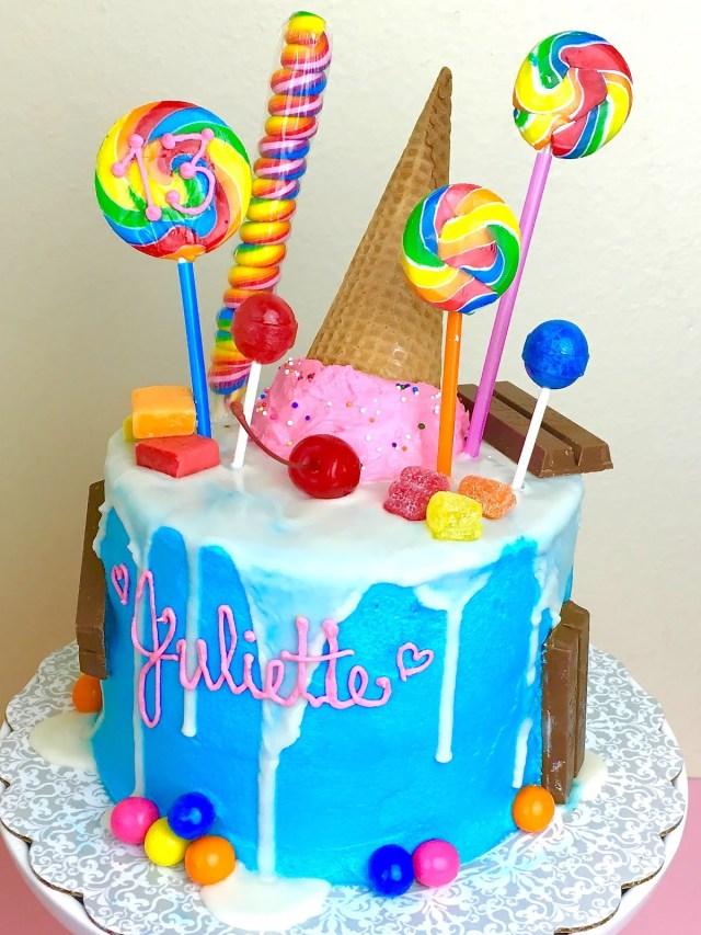 Candy Birthday Cake Candy Cake Lindsay Ann Bakes