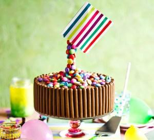 Candy Birthday Cake Gravity Defying Sweetie Cake Recipe Bbc Good Food