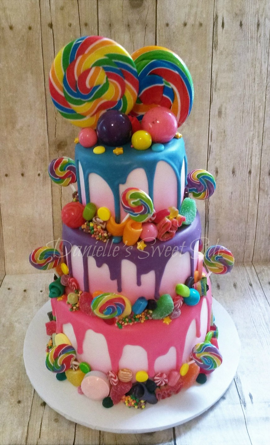 Candy Birthday Cake Willy Wonka Candy Themed Birthday Cake Candycrush Candy Cakes