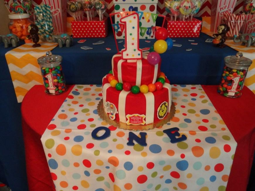 Carnival Birthday Cakes Carnival Birthday Party Project Nursery