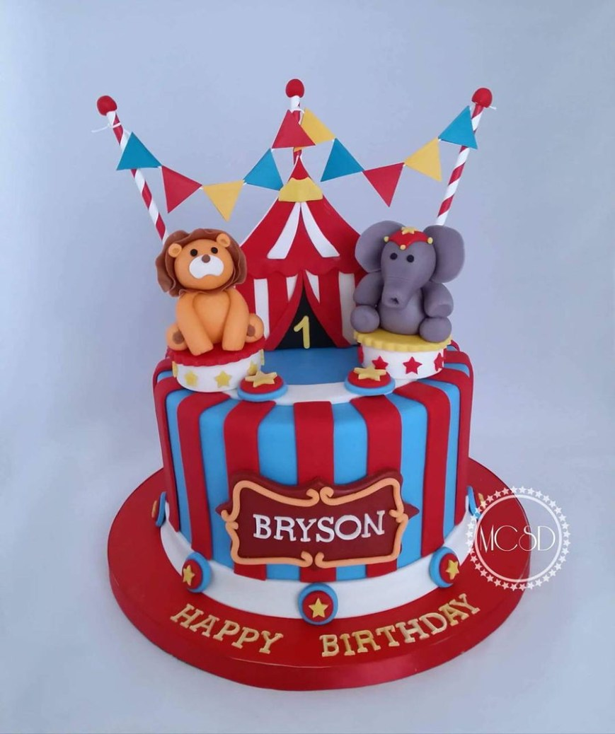 Carnival Birthday Cakes Carnival Circus 1st Birthday Cake Cakecentral