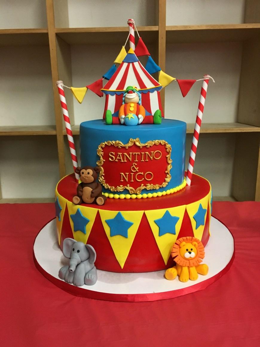 Carnival Birthday Cakes Circus Birthday Cake 1st Birthday Pinterest Birthday Circus