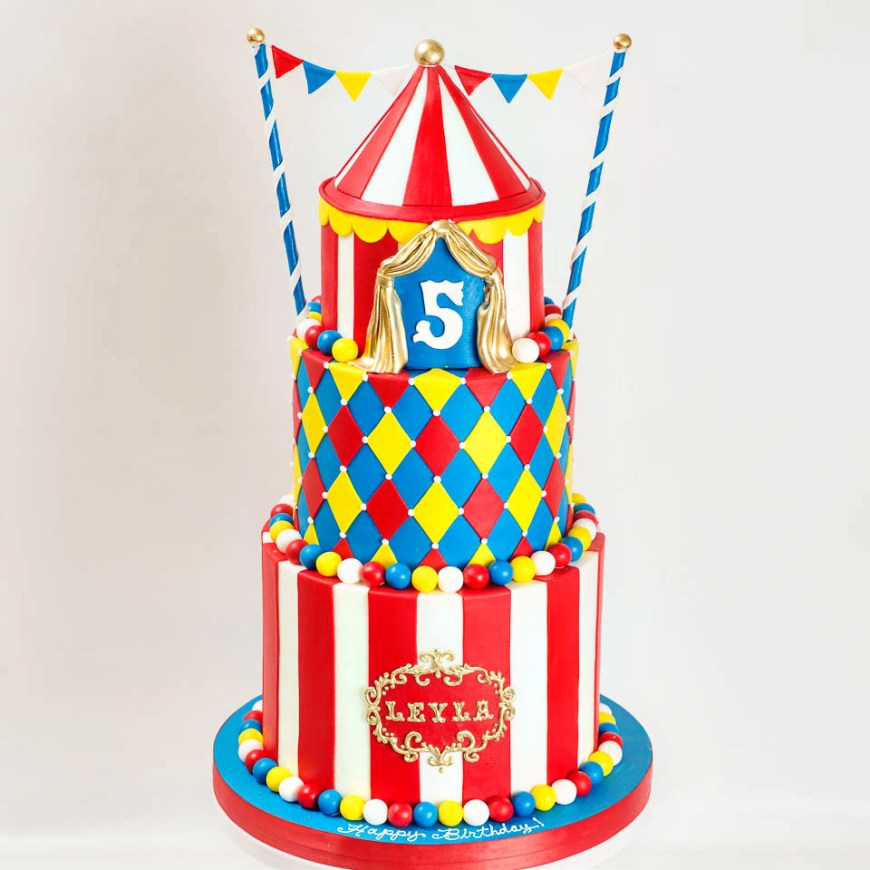 Carnival Birthday Cakes Kids Birthday Blue Lace Cakes