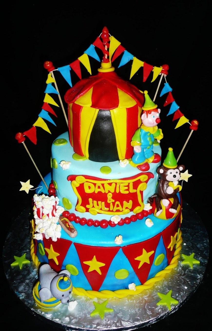 Carnival Birthday Cakes Shocking Carnival Birthday Cake Cakes Toppers First Themed