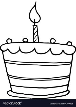 Cartoon Birthday Cake Birthday Cake Cartoon Royalty Free Vector Image