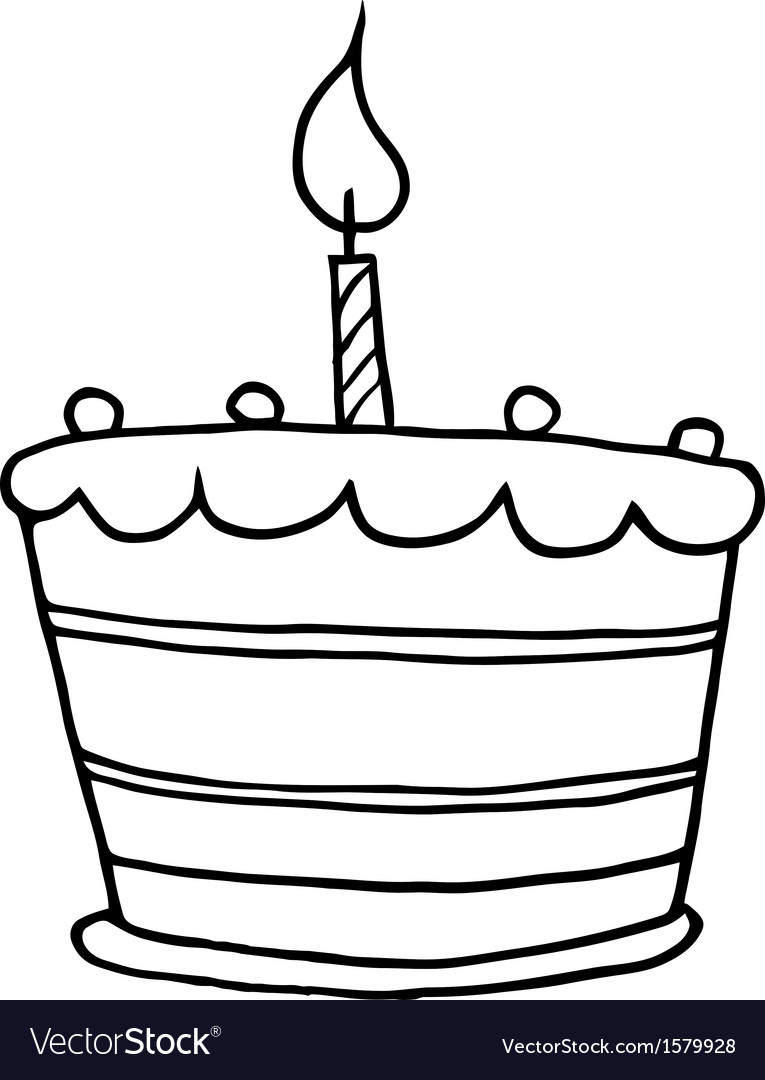 Cartoon Birthday Cake Birthday Cake Cartoon Royalty Free Vector Image