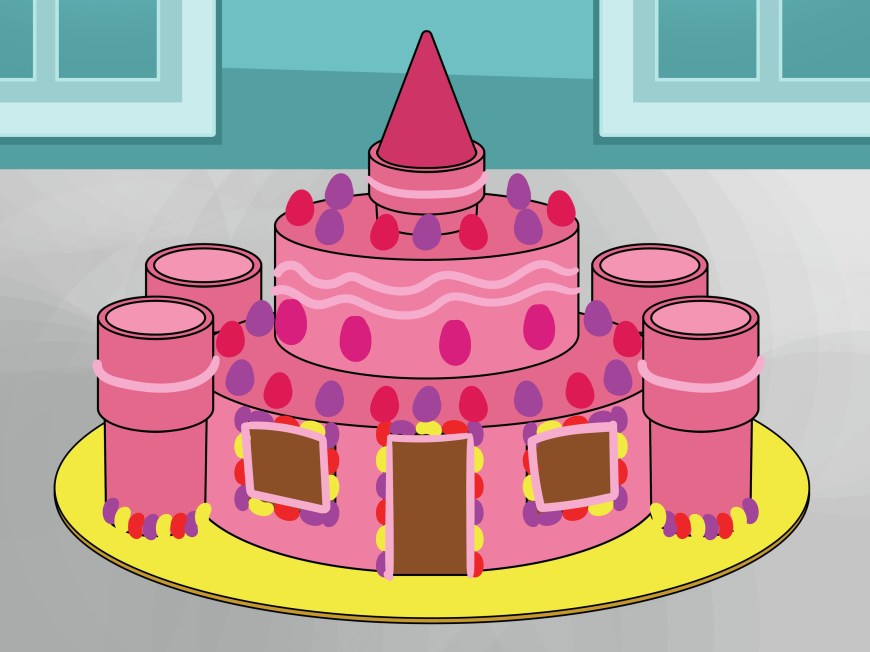 Castle Birthday Cake How To Make A Castle Cake 15 Steps With Pictures Wikihow