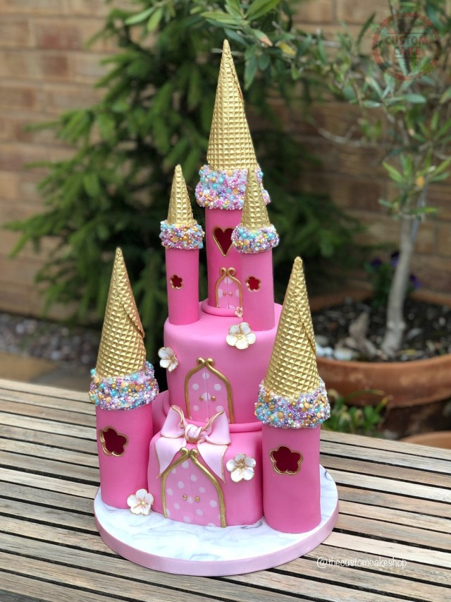 Castle Birthday Cake Princess Castle Birthday Cake Custom Cake Classes