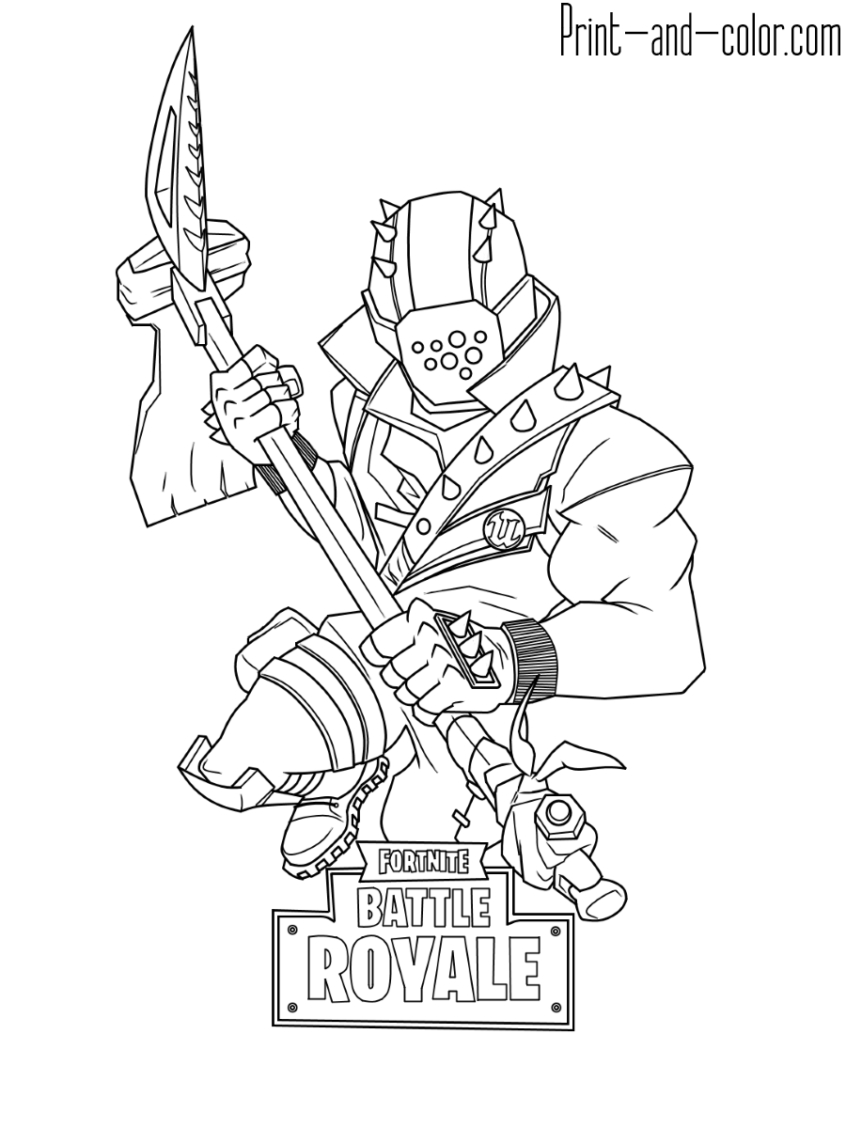 Character Coloring Pages Coloring Pages Ideas Fortnite Coloring Pages Print And Color Com
