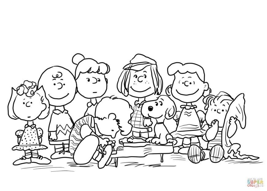 Character Coloring Pages Peanuts Characters Coloring Page Pages Telematik Institut