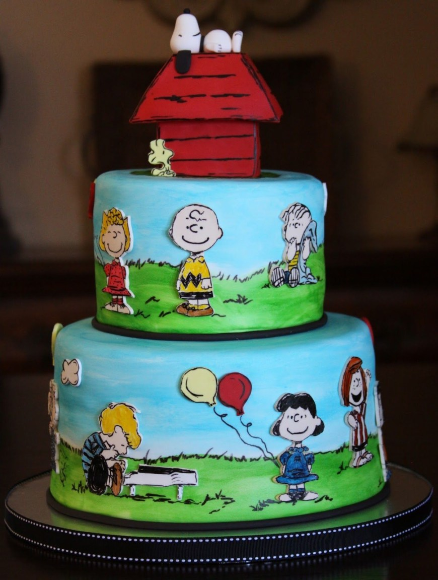 Charlie Brown Birthday Cake Charlie Brown Cake Charlie Brown Cake Themed Party Peanuts