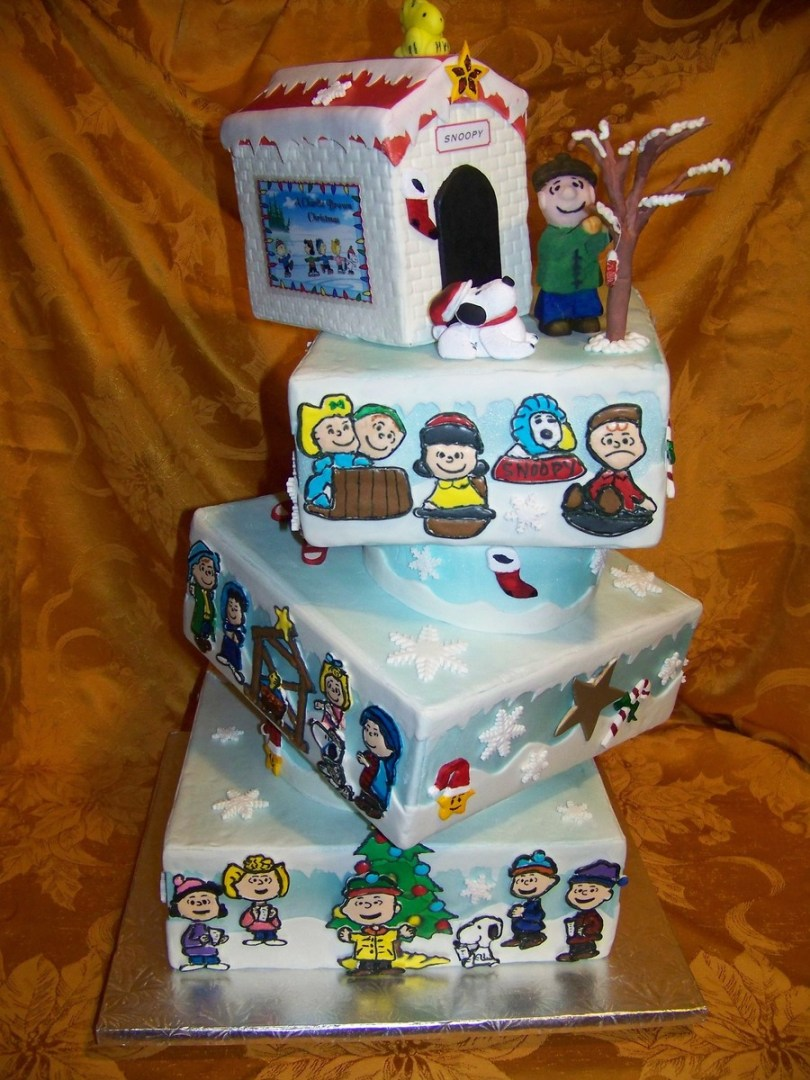 Charlie Brown Birthday Cake Charlie Brown Christmas Cake Cakecentral
