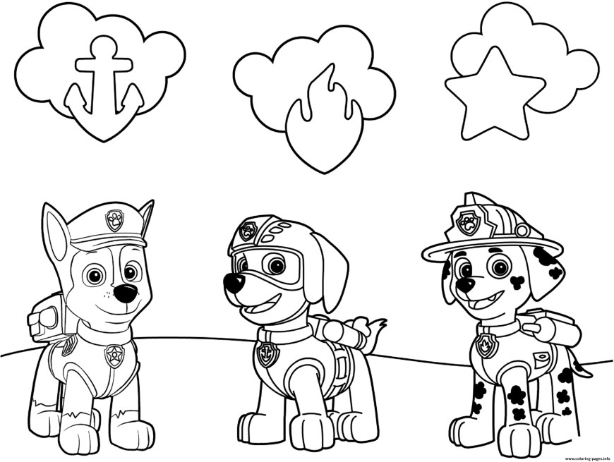 Chase Coloring Page Free Paw Patrol Coloring Pages Happiness Is Homemade