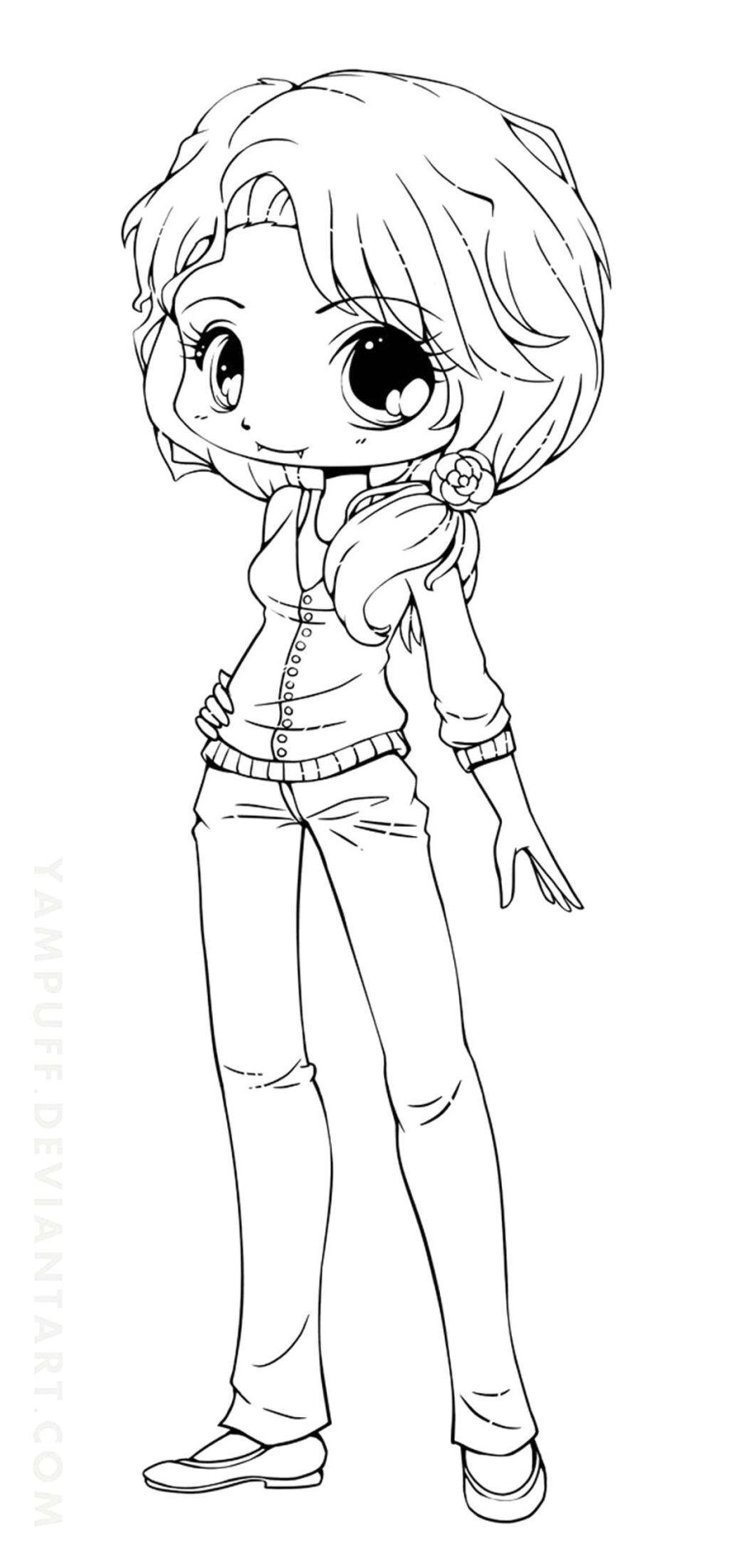 Chibi Coloring Pages Chibi Anime Girl Coloring Pages Simple Seomybrand Com Page 10242202