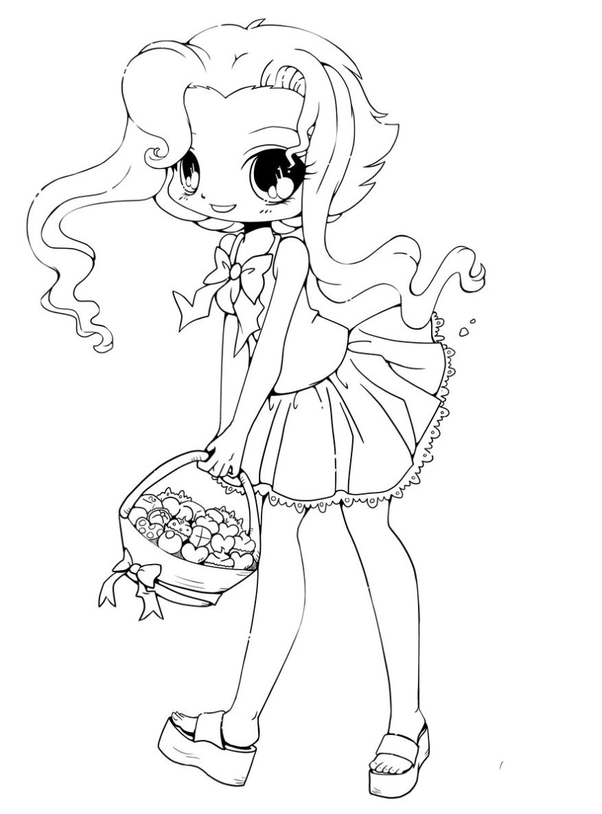 Chibi Coloring Pages Free Printable Chibi Coloring Pages For Kids