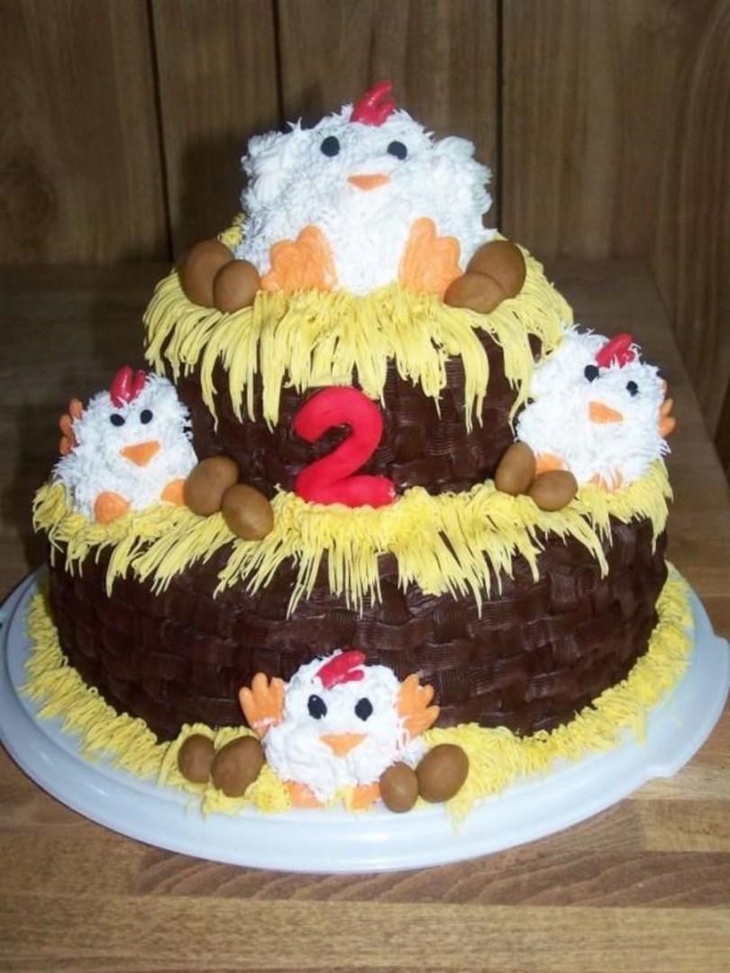 Chicken Birthday Cake Chicken Coop Birthday Cake Cakecentral