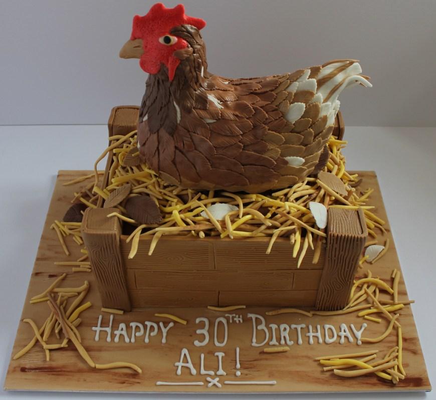 Chicken Birthday Cake Nesting Chicken Birthday Cake Pauls Creative Cakes Flickr