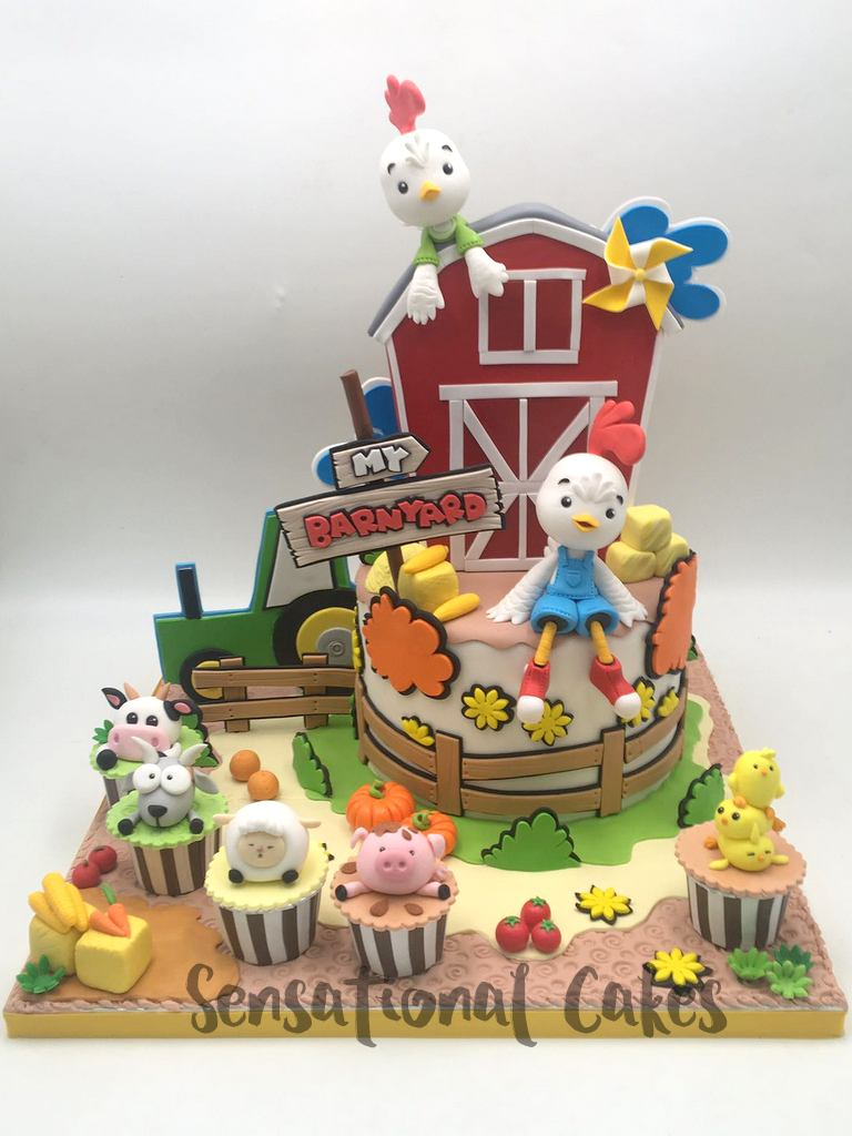 Chicken Birthday Cake The Sensational Cakes 1st Year Ba Chick Chicken Little Rooster