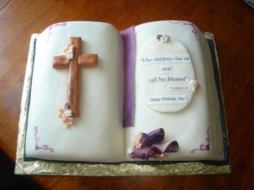 Christian Birthday Cakes Bible Birthday Cake Kelly Lindquist Flickr