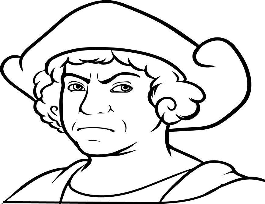 Christopher Columbus Coloring Page Christopher Columbus Coloring Pages To Download And Print For Free