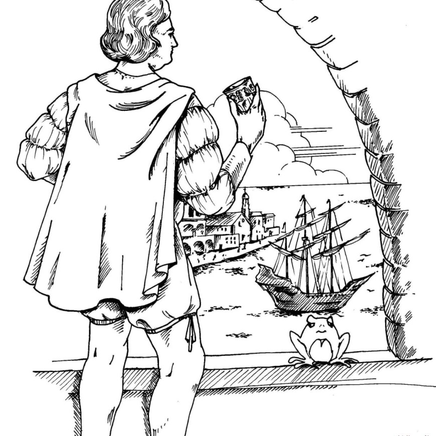 Christopher Columbus Coloring Page Columbus Day Coloring Pages Printable At Getdrawings Free For
