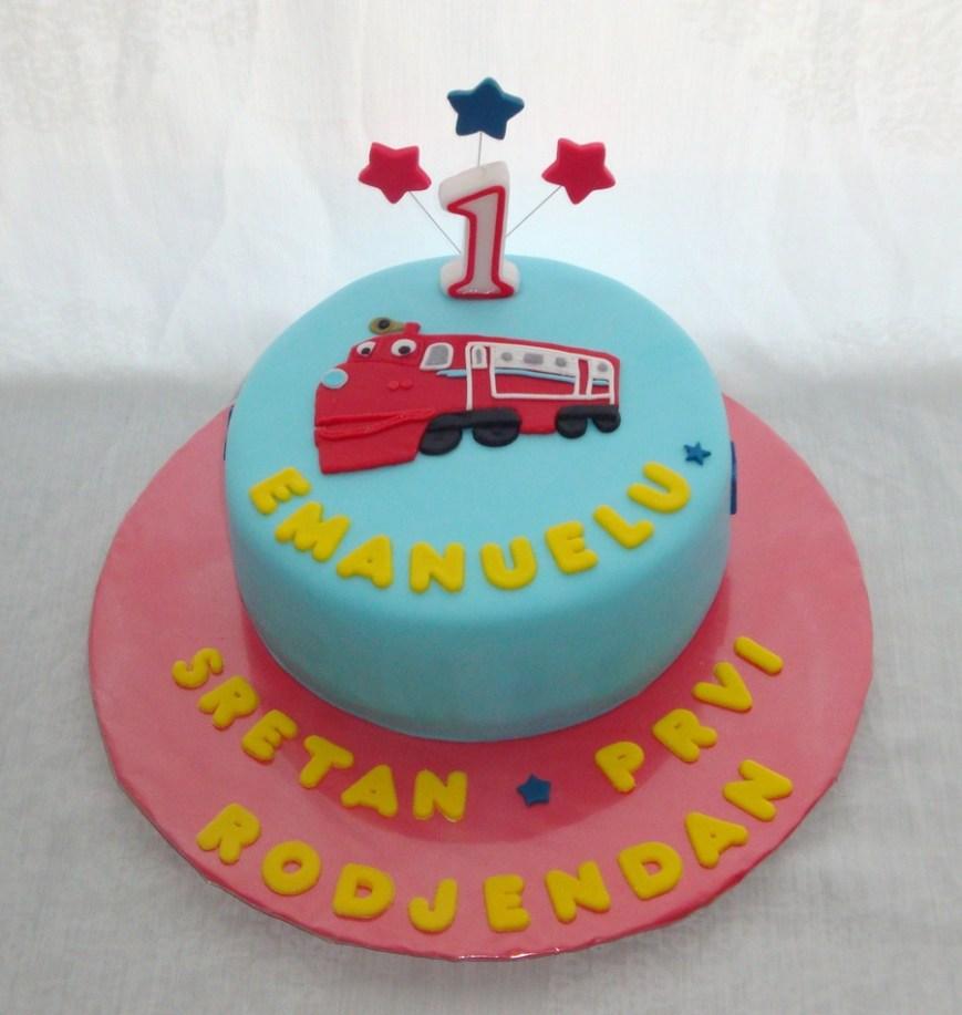 Chuggington Birthday Cake Chuggington Cake For A 1st Birthday Cakecentral