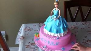 Cinderella Birthday Cake Cinderella Princess Doll Birthday Cake Youtube