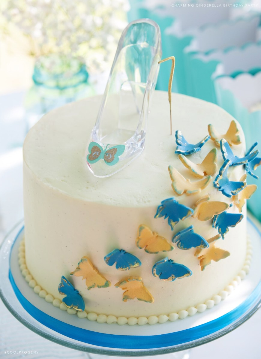 Cinderella Birthday Cake Real Parties Charming Cinderella Birthday Party Cool Progeny