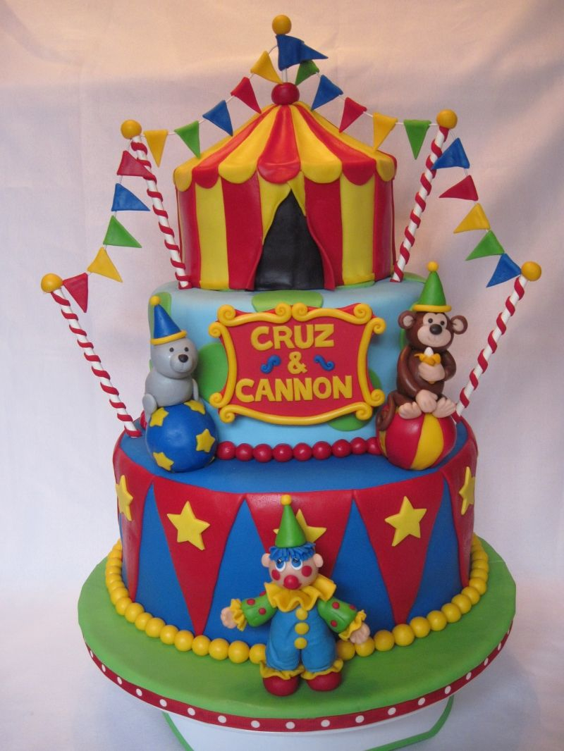 Circus Birthday Cakes Awesome Circus Themed Birthday Cake Casey Fields I Am In Love With