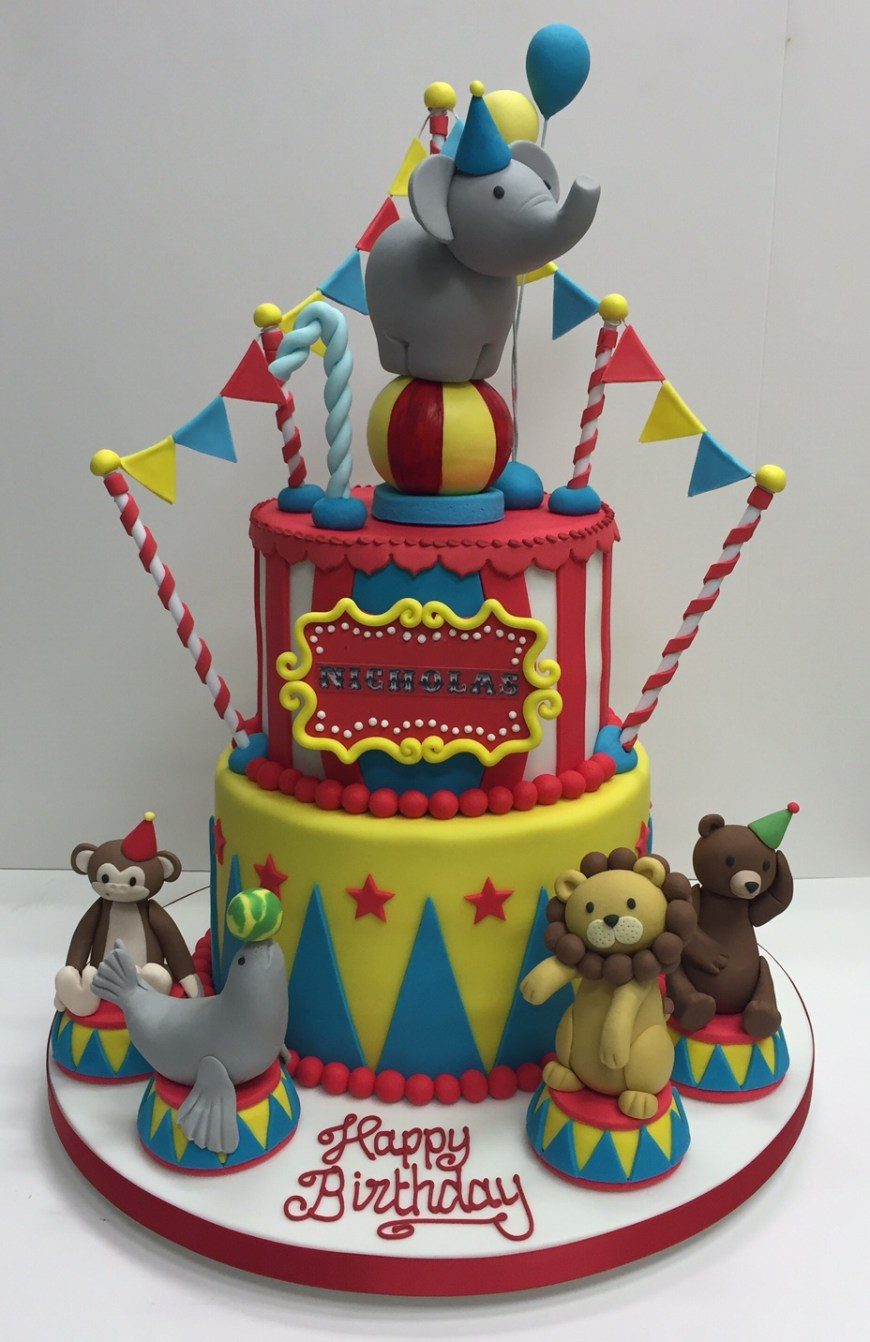 Circus Birthday Cakes Circus Themed Childrens Birthday Party Cakes Robin