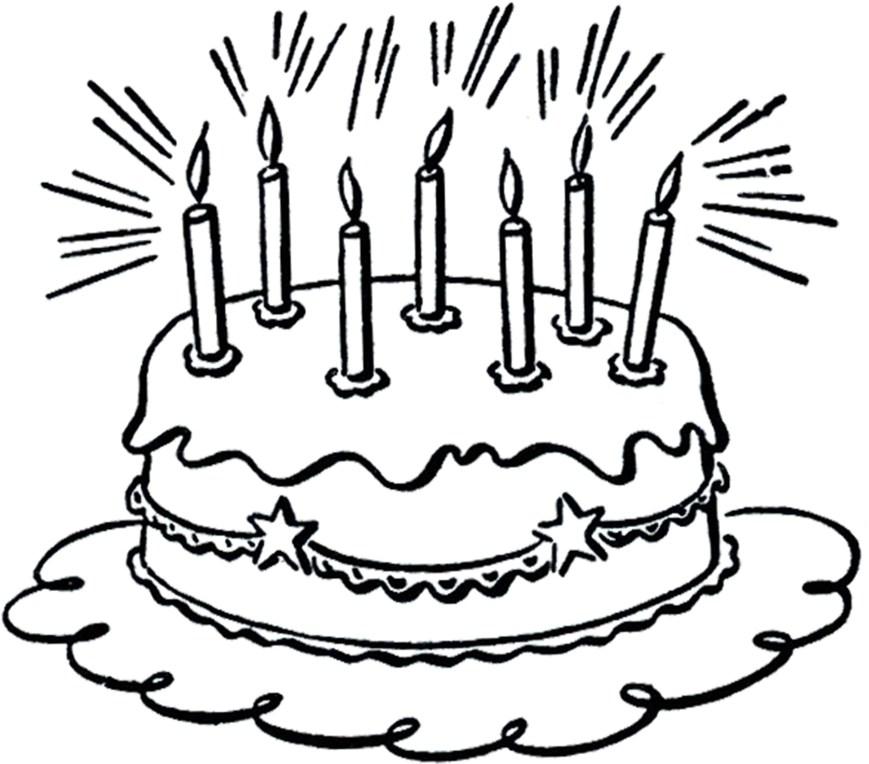 Clip Art Birthday Cake Vintage Birthday Cake Line Art The Graphics Fairy