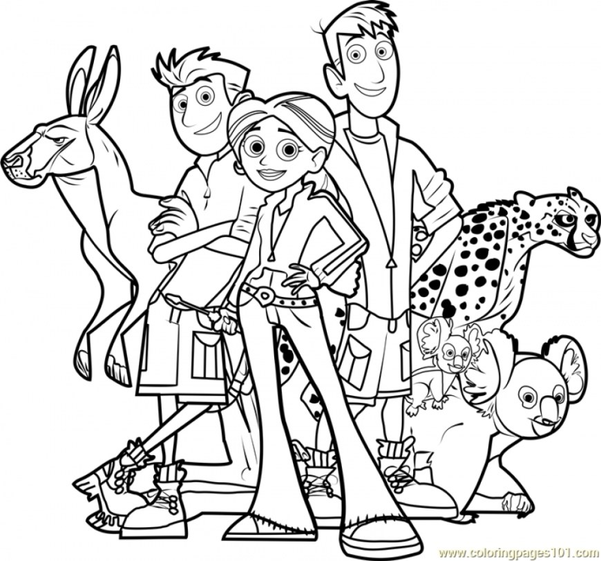 Color Pages Online Coloring Page Wild Kratts Coloring Pages Online 6dg48