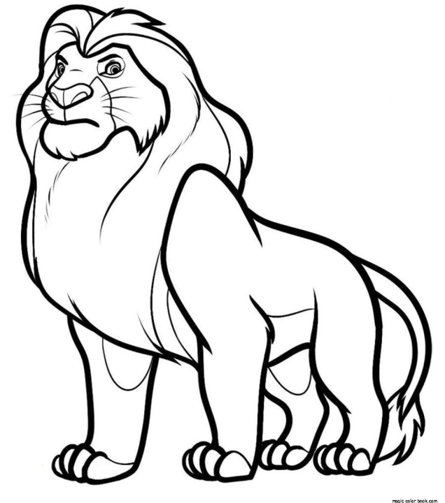 Color Pages Online Mufasa Disney The Lion King Coloring Pages Online Free Kids